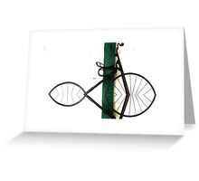 Abstract in Geometric Velocipede  Greeting Card
