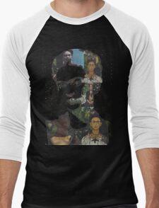 Frida Kahlo Paintings and Photographs Mix Men's Baseball ¾ T-Shirt