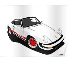 My own 911 in white Poster