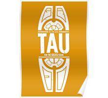 Tau - White - Damage Poster