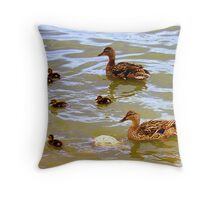 Mom Dad And Babies Throw Pillow