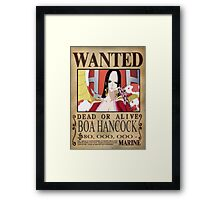 Wanted Boa Hancock - One Piece Framed Print