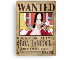 Wanted Boa Hancock - One Piece Canvas Print
