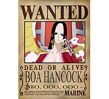 Wanted Boa Hancock - One Piece Photographic Print