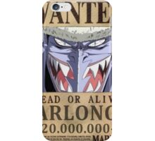 Wanted Arlong - One Piece iPhone Case/Skin