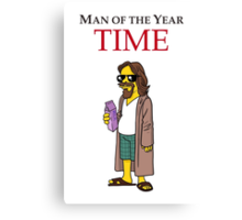 Dude of the year. Canvas Print