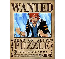 Wanted Puzzle - One Piece Photographic Print