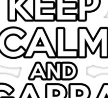 Keep Calm And Gabba Gabba Hey! Sticker