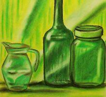 Still-Life in green by Alan Hogan