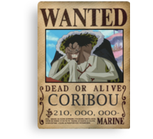 Wanted Coribou - One Piece Canvas Print