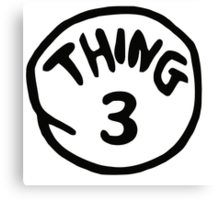 Thing 3 and thing 4 for couple and kids Canvas Print