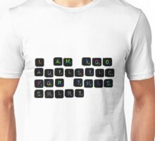 I'm too autistic for this (Scrabble-Rainbow) Unisex T-Shirt