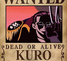 Wanted Kuro - One Piece by yass-92