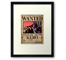 Wanted Kuro - One Piece Framed Print