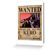 Wanted Kuro - One Piece Greeting Card