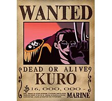 Wanted Kuro - One Piece Photographic Print