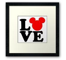 FUNNY LOVE SILHOUETTE Framed Print