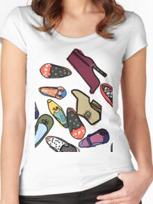 Pile of Shoes Women's Fitted Scoop T-Shirt