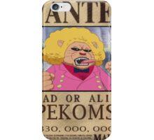 Wanted Pekoms - One Piece iPhone Case/Skin