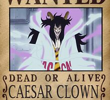 Wanted Caesar Clown - One Piece by yass-92