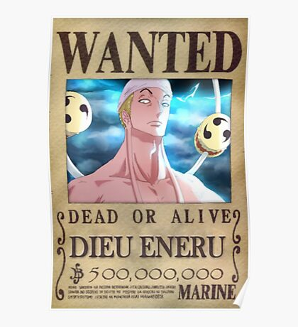 Wanted Eneru - One Piece Poster
