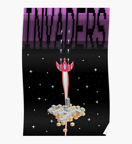 Pixel Invaders Print Poster