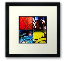 Circles Get The Squares Framed Print
