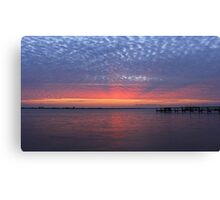 rays on the clouds Canvas Print