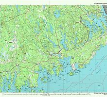 Maine USGS Historical Map Machias 808048 1994 100000 by wetdryvac