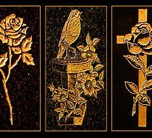 Headstone artwork by Paul Reay