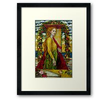homage to Carlo Crivelli (XV century - born in Venice) Framed Print