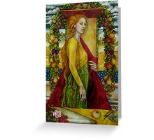 homage to Carlo Crivelli (XV century - born in Venice) Greeting Card