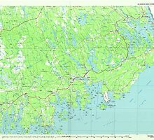 Maine USGS Historical Map Machias 808049 1985 100000 by wetdryvac