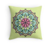 Mandala - Circle Ethnic Ornament Throw Pillow