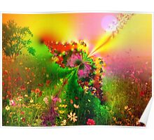 Butterfly in a Meadow Poster