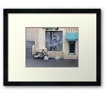 What Bike Through Yonder Window Breaks.... Framed Print