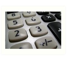 Calculation Art Print