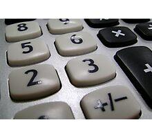 Calculation Photographic Print