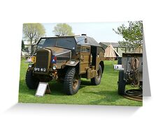 25PDR tractor (photo) Greeting Card
