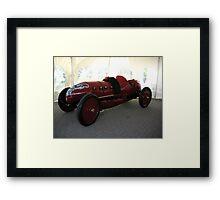 FIRE RED SPORTSCAR---PRE-1915 Framed Print