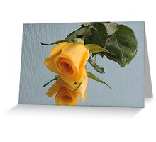 Yellow Rose on Glass Greeting Card