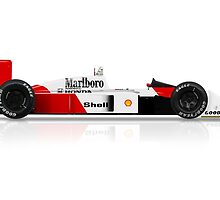 Ayrton Senna - McLaren MP4/4 by JageOwen