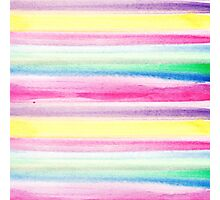 Modern abstract colorful watercolor stripe pattern Photographic Print