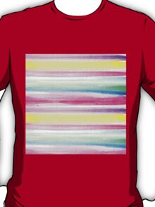 Modern abstract colorful watercolor stripe pattern T-Shirt