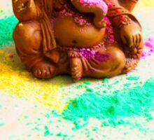 Ganesha Playing Holi Sticker