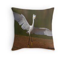 Snowy Egret #2 Throw Pillow