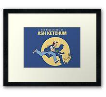 The Adventure of Ash Ketchum Framed Print