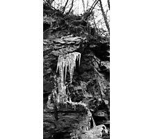 Icicle B&W Photographic Print