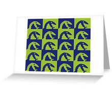 Dino Blue and Green Greeting Card