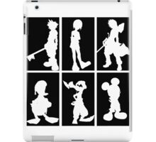 Kingdom Hearts - Character Roster (Black) iPad Case/Skin